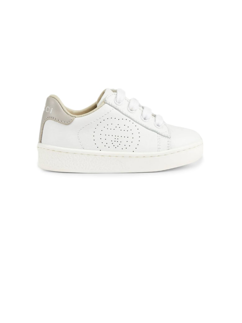 Gucci White Leather Ace Sneakers - Bianco