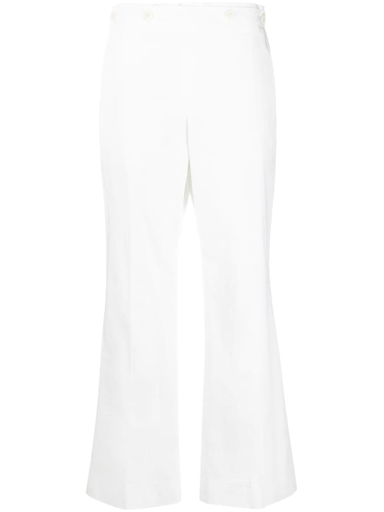 Maison Margiela White Cotton Trousers - Bianco