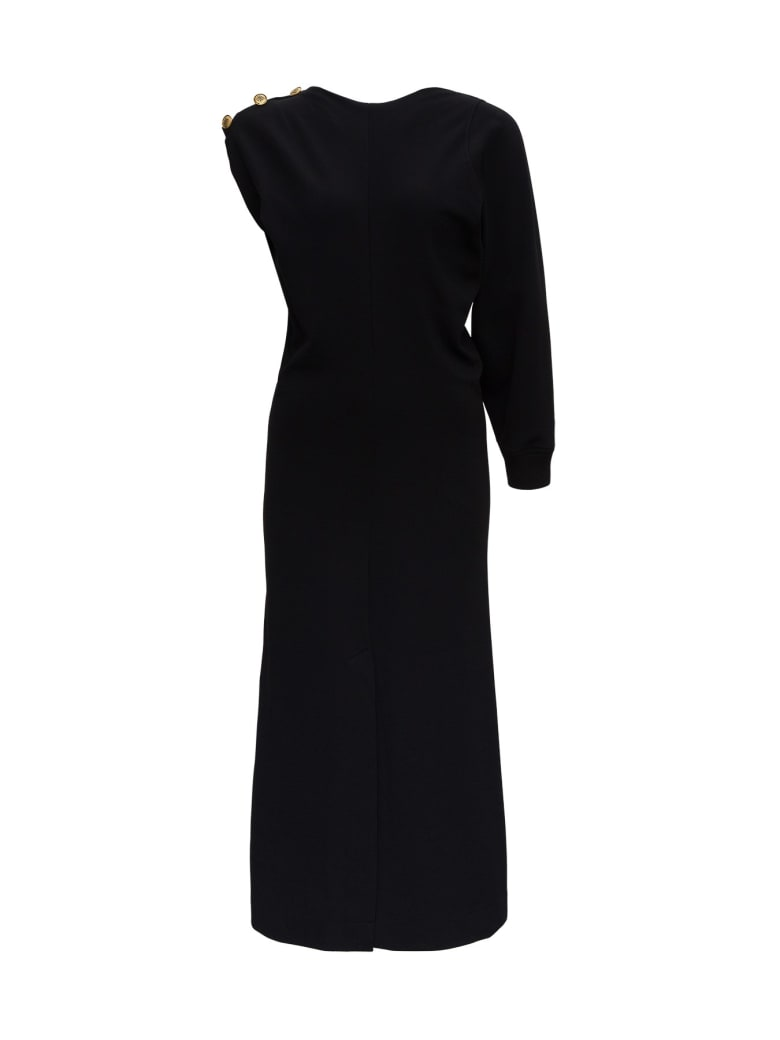 Givenchy Asymmetrical Dress With 4g Buttons - Black