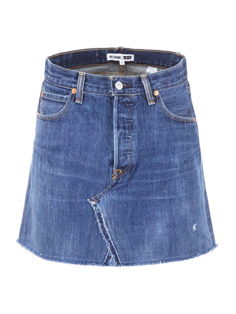 RE/DONE Denim Mini Skirt - INDIGO (Blue)