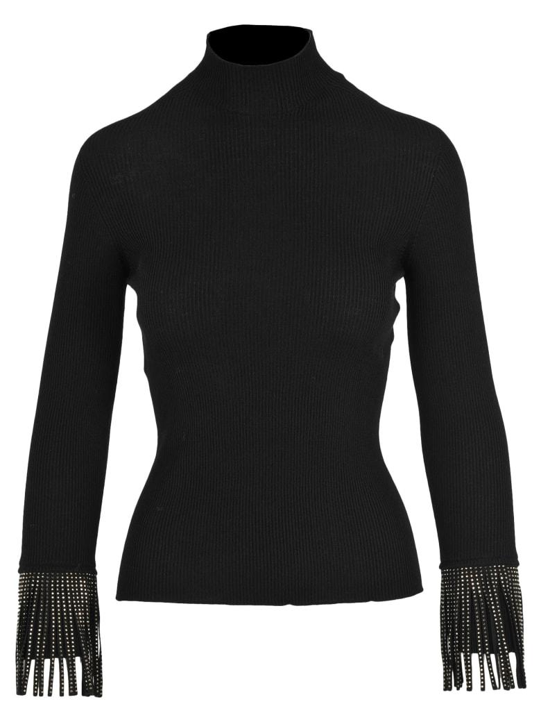 Philosophy di Lorenzo Serafini Philosophy Fringed Sweater - BLACK