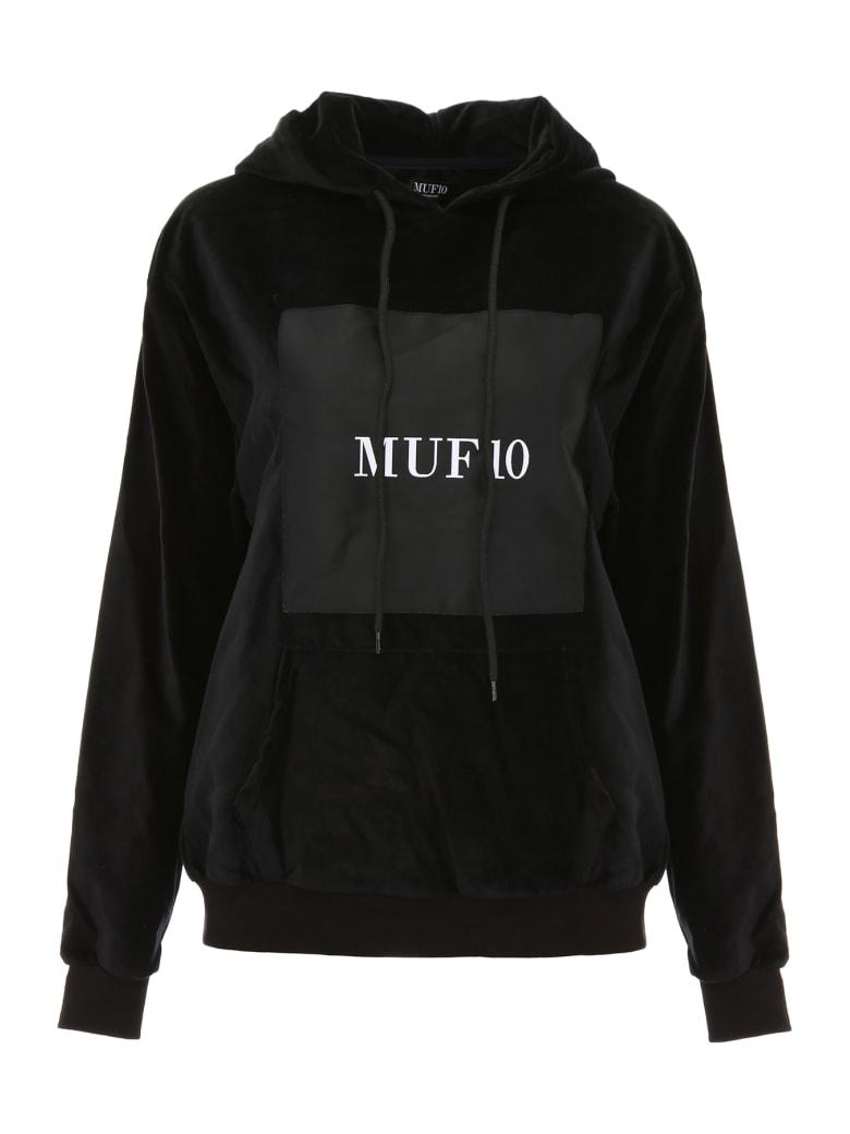 MUF10 Printed Velvet Hoodie - BLACK (Black)
