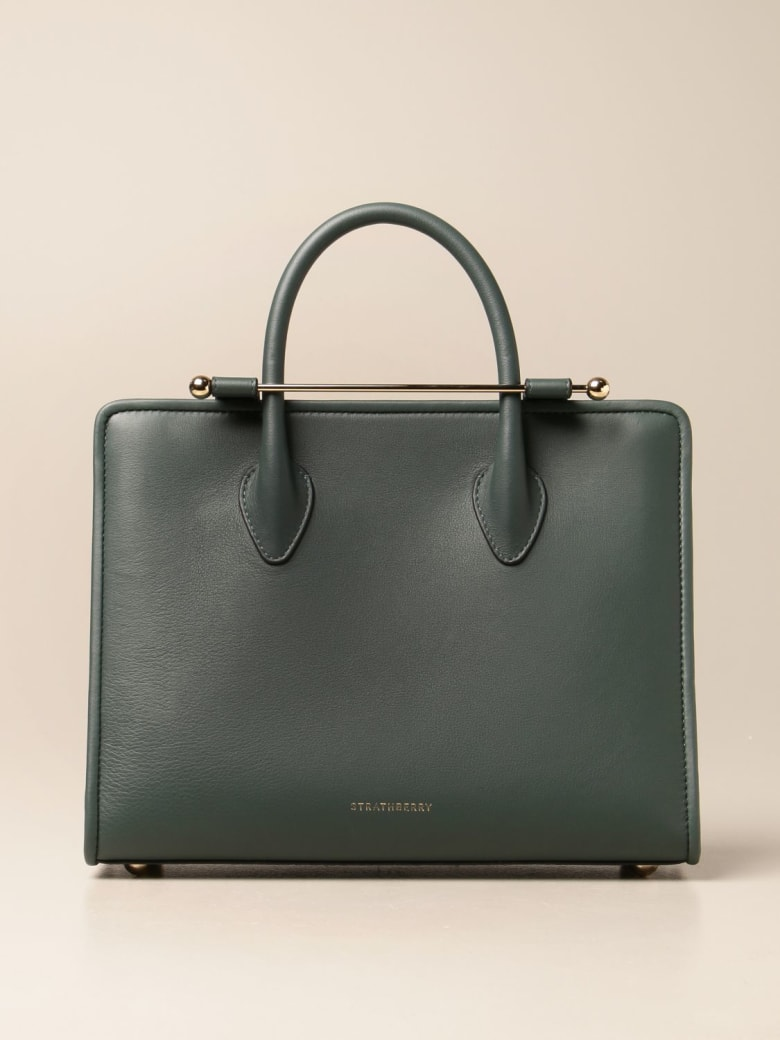 Strathberry Shoulder Bag Strathberry Midi Tote Bag In Leather - Bottle Green