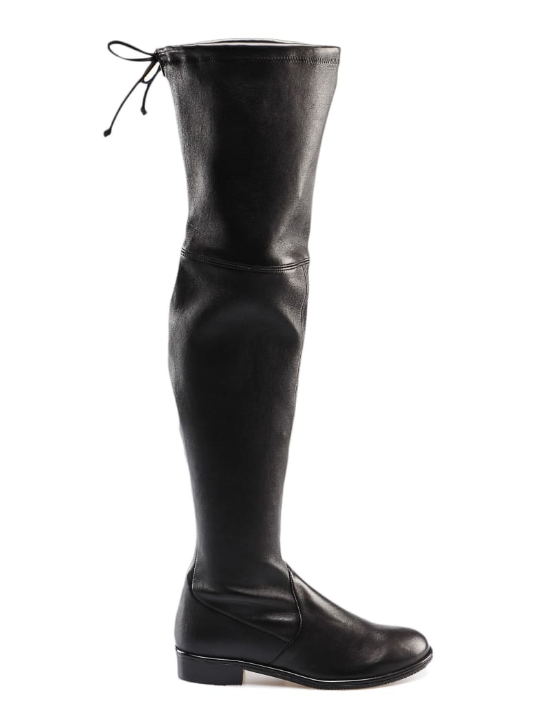 Stuart Weitzman Stretch Lambskin Boot - Black