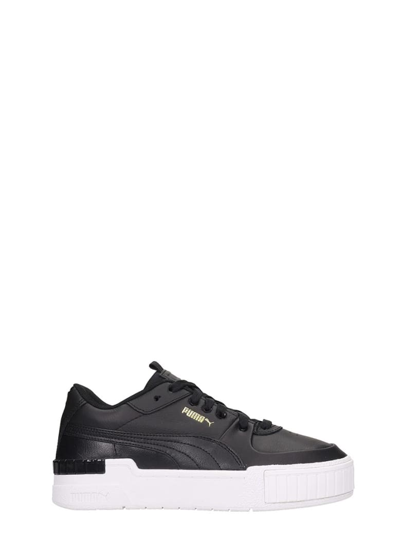 Puma Cali Sport  Sneakers In Black Leather - black