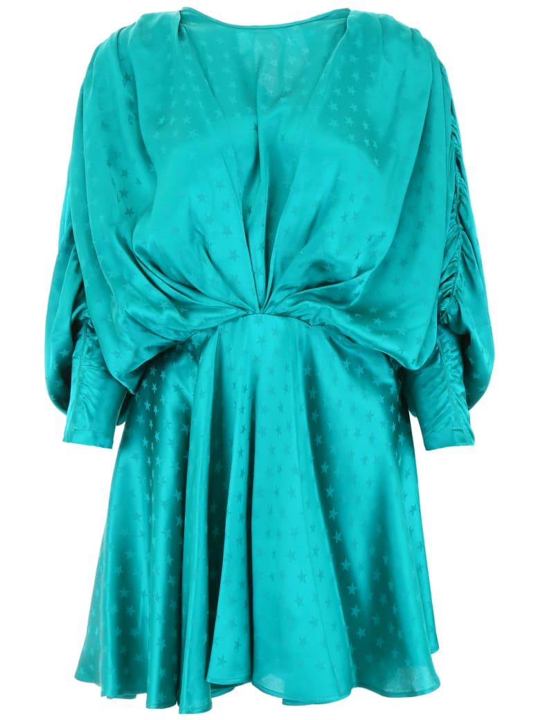 The Attico Star Mini Dress - PEACOCK (Green)