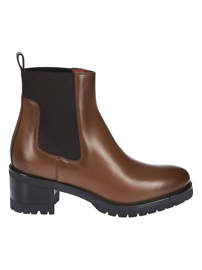 Santoni Ridged Sole Boots - Brown