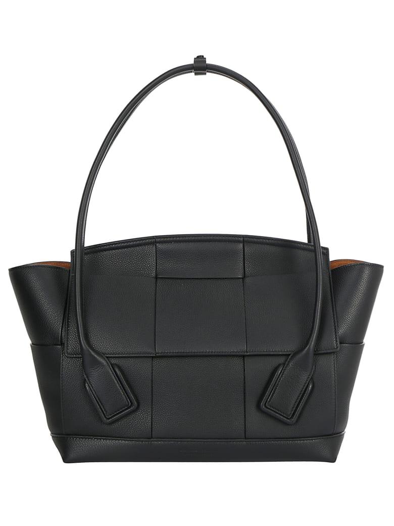 Bottega Veneta The Arco 48 Handbag - Nero/silver