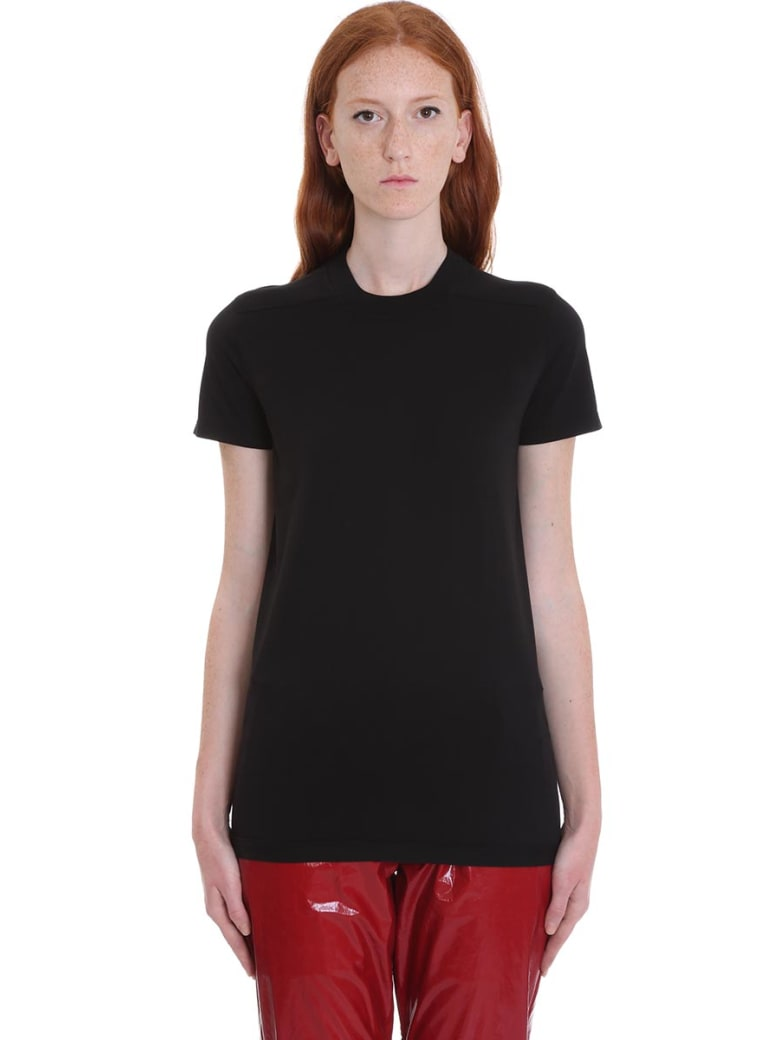 DRKSHDW Crew Level Shor T-shirt In Black Cotton - black