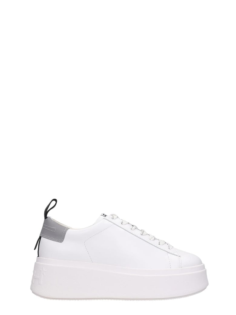 Ash Moon06 Sneakers In White Leather - white