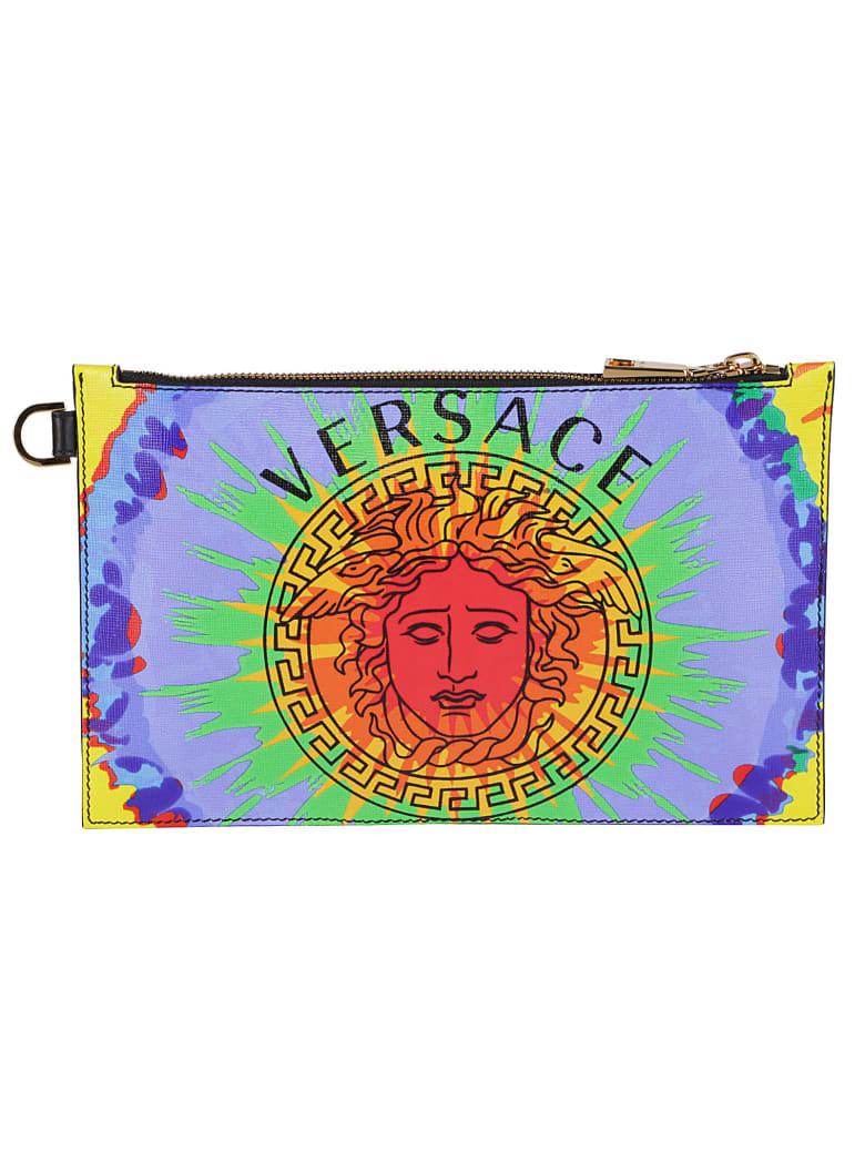 Versace Logo Medusa Clutch - Multicolor
