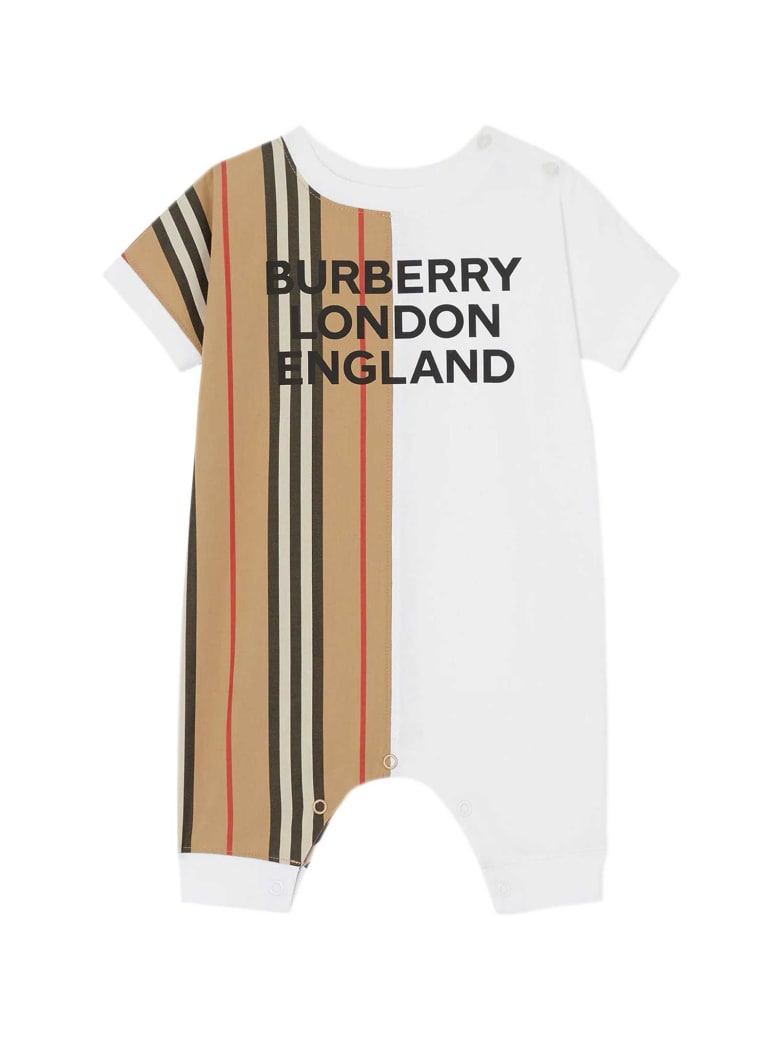 Burberry White Baby Suit - Bianco