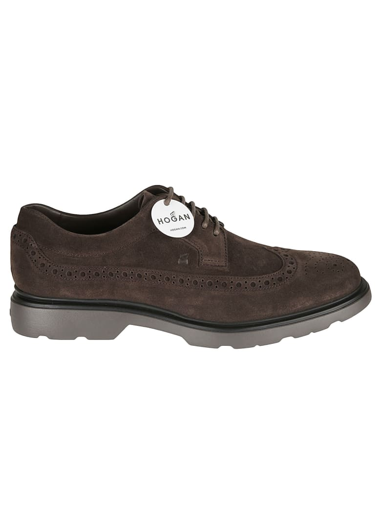 Hogan H393 Derby Shoes - Moro