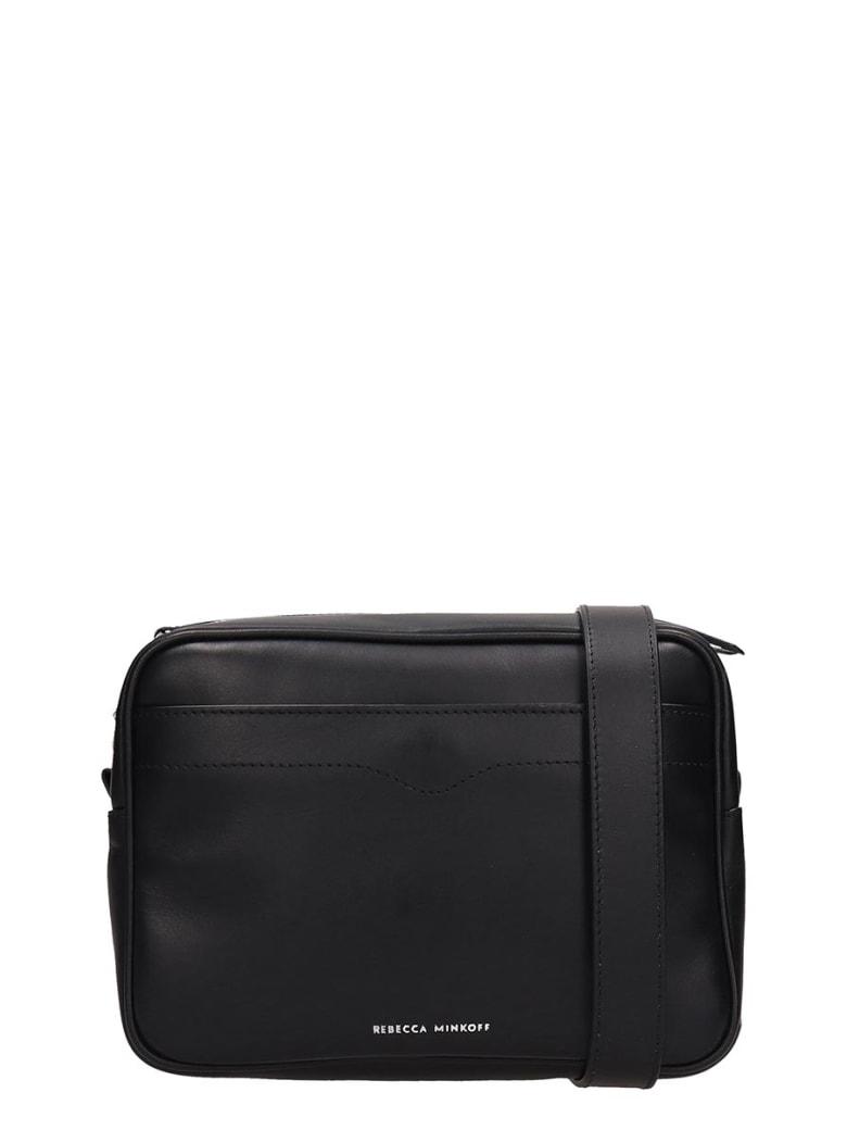 Rebecca Minkoff Black Leather Big Camera Bag - black