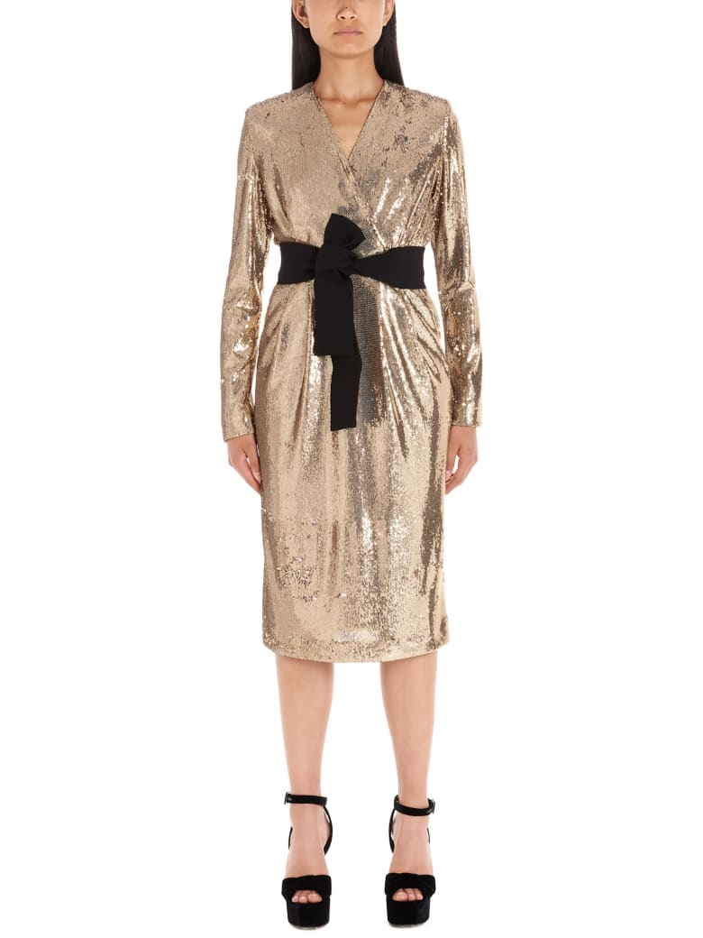 Parosh Dress - Gold