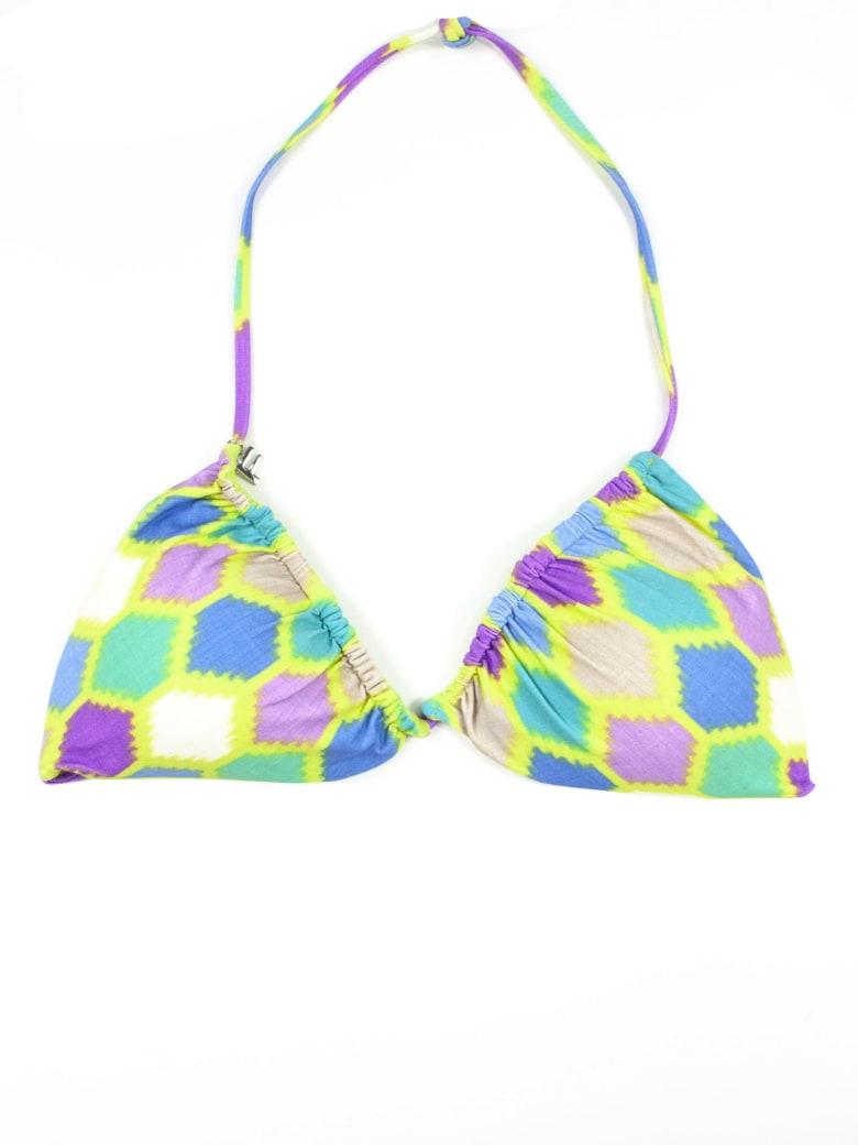 Fisico - Cristina Ferrari Lime Green Bikini Top - Fantasia