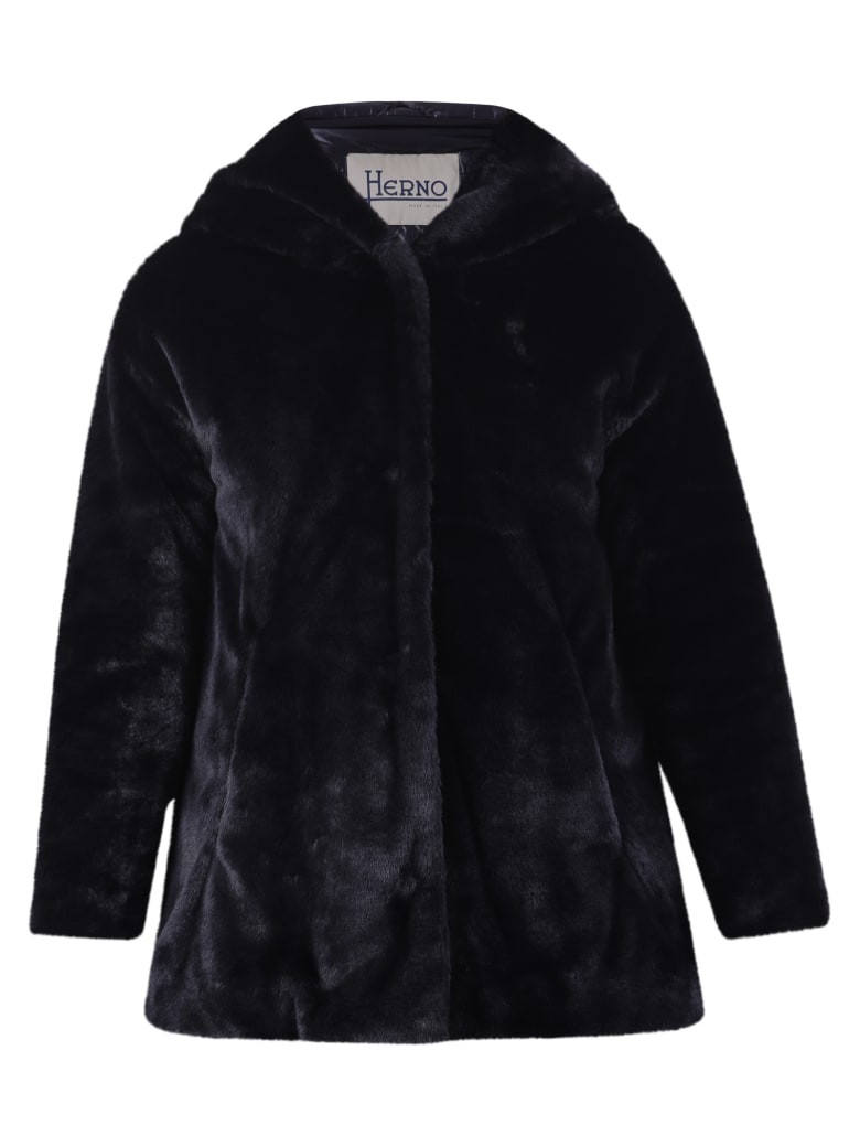 Herno Faux Fur Jacket - Black