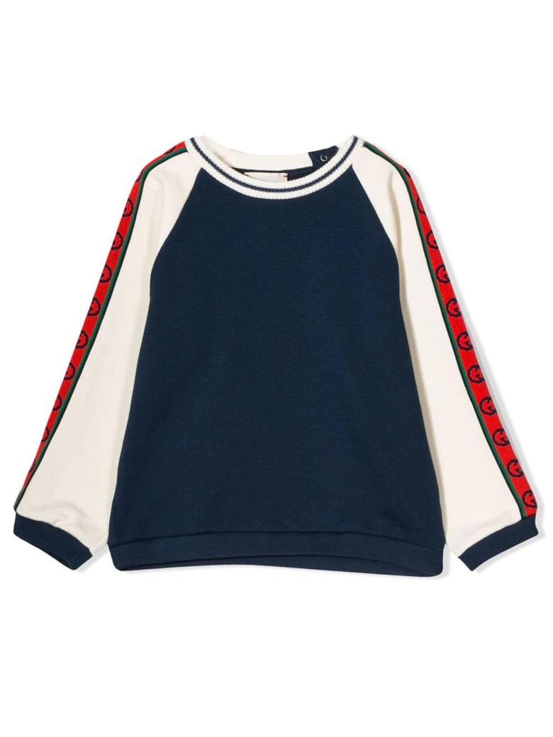 Gucci Dark Blue Cotton Jersey Sweatshirt - Blu