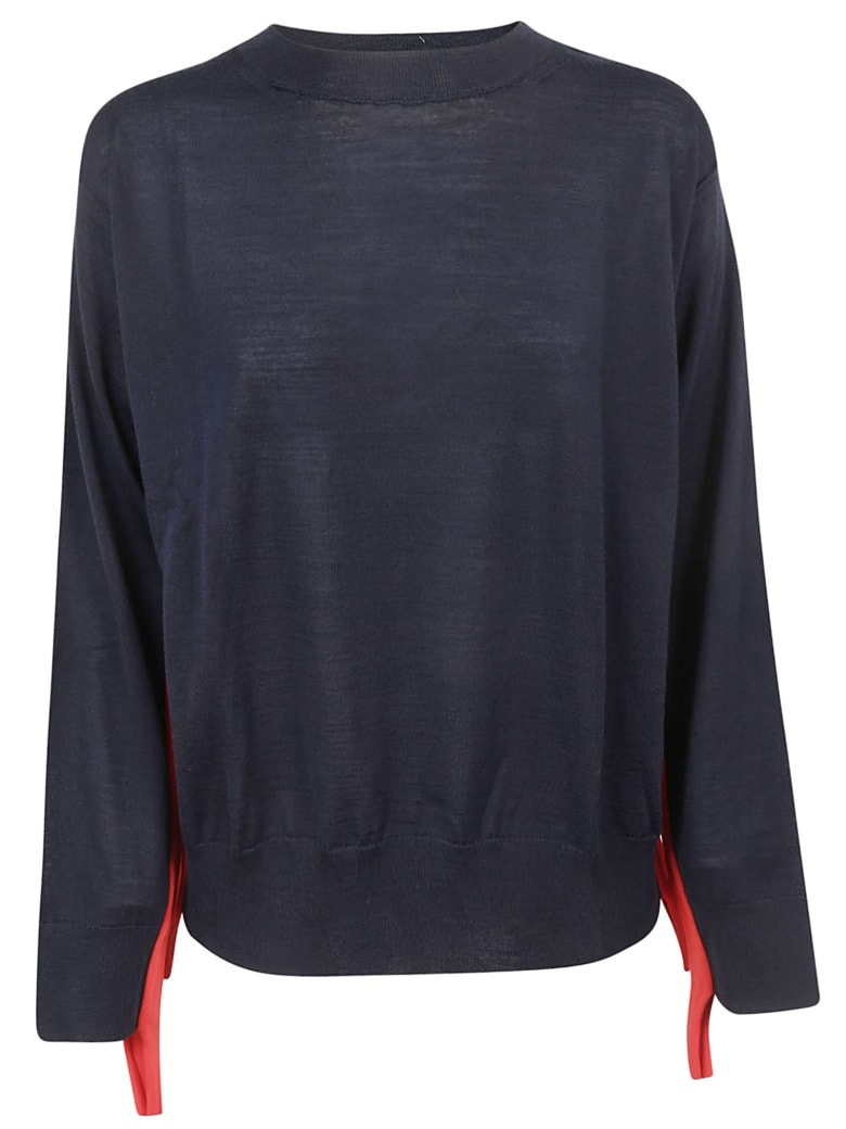 Sofie d'Hoore Lace Detailed Sweater - Navy/red