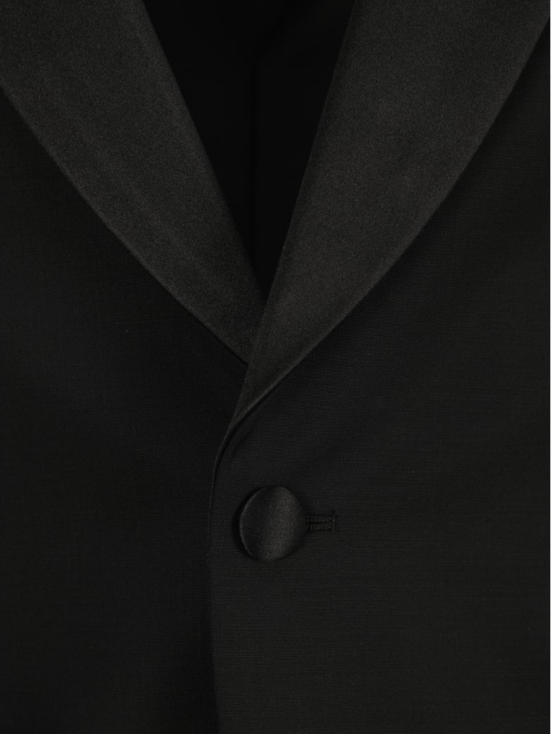 Prada Slim-fit Single-breasted Tuxedo - BLACK