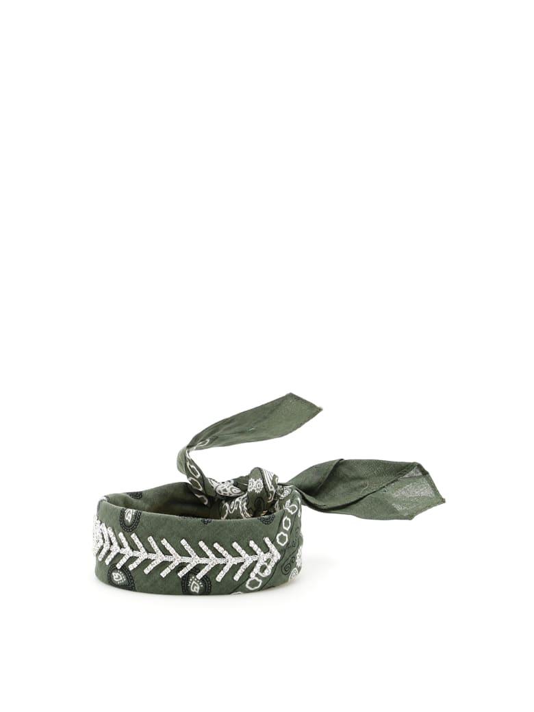 Fallon Monarch Diamante Choker - ARMY (Khaki)