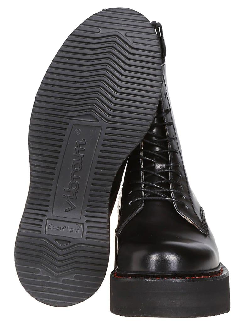 R13 Black Leather Combat Boots - Black