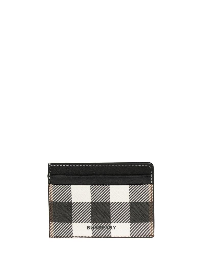 Burberry Kier - Check E-canvas And Leather Card Case - Dark Birch Brown