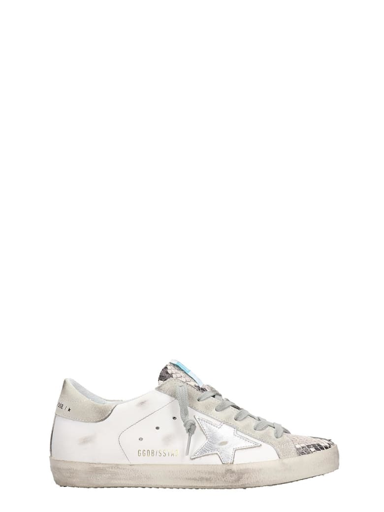 Golden Goose Superstar Sneakers In White Leather - white