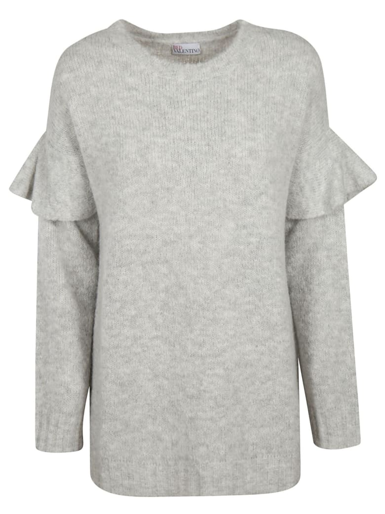 RED Valentino Double Layered Jumper - grey