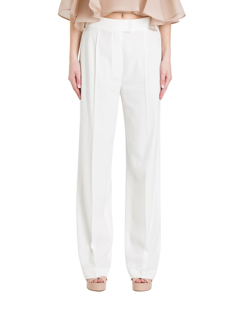 Brunello Cucinelli Wide Trousers With Pinces - Bianco