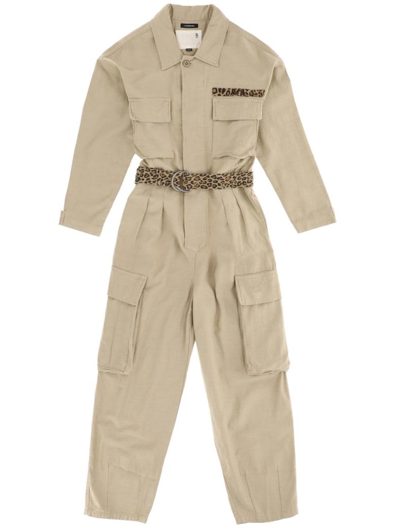 R13 Abu Cotton Jumpsuit - KHAKI (Beige)