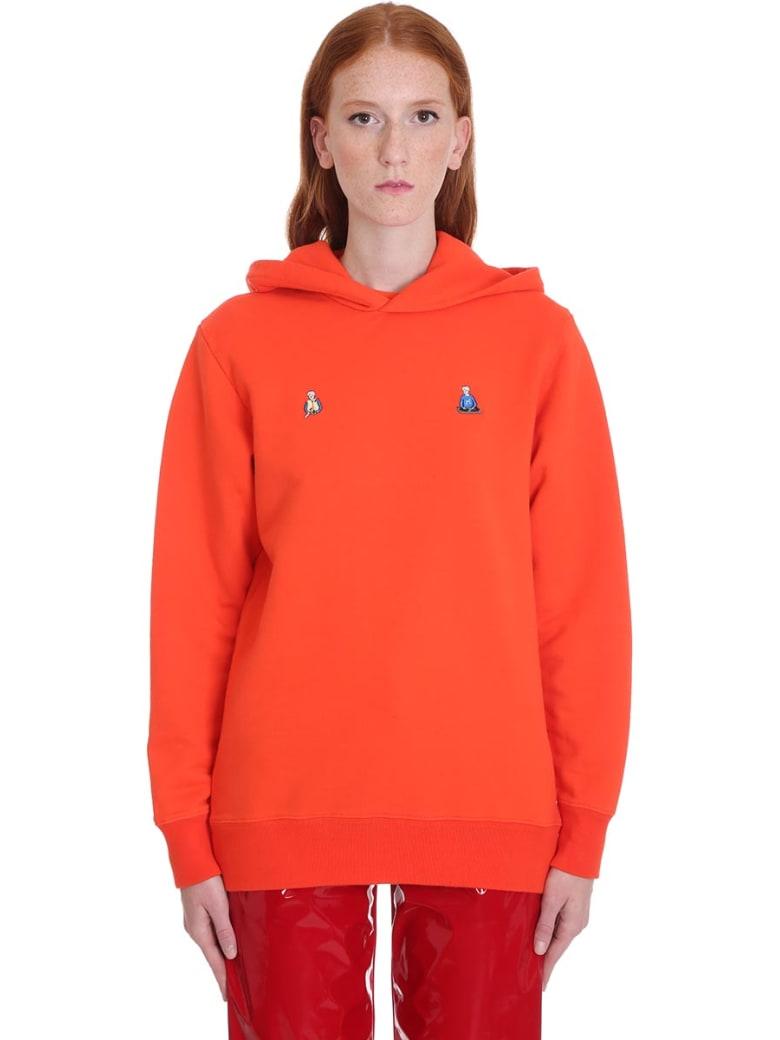 Kirin Sweatshirt In Orange Cotton - orange