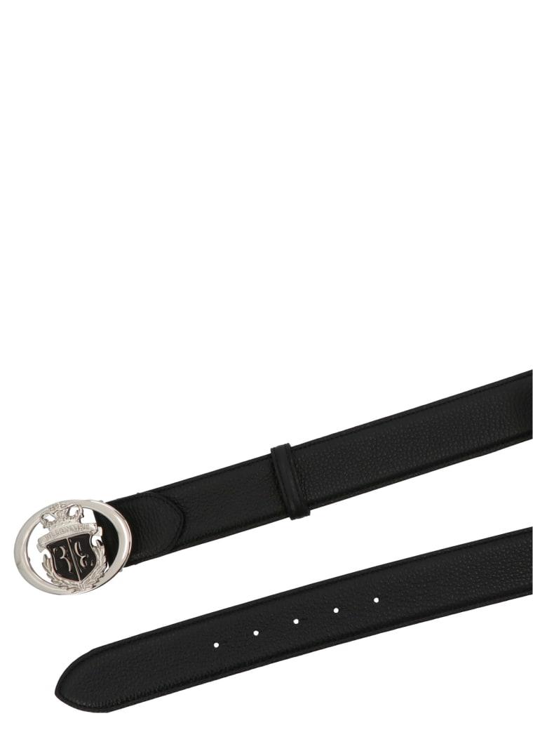 Billionaire 'crest' Belt - Black