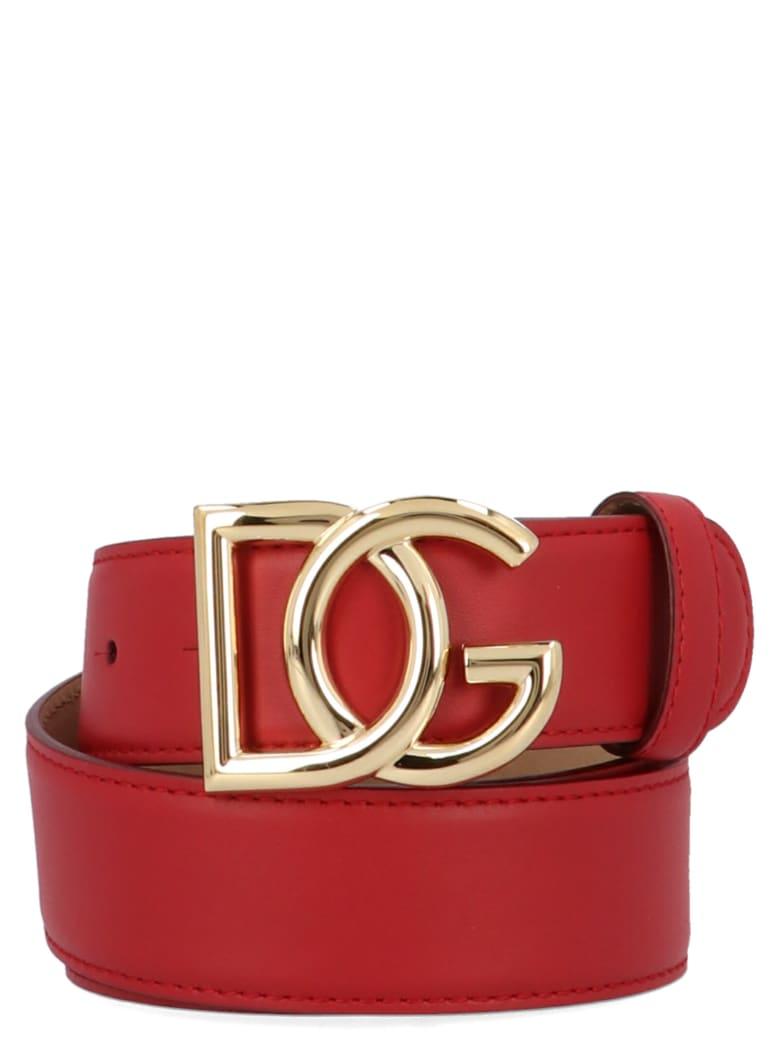 Dolce & Gabbana 'dg Millenials' Belt - Red