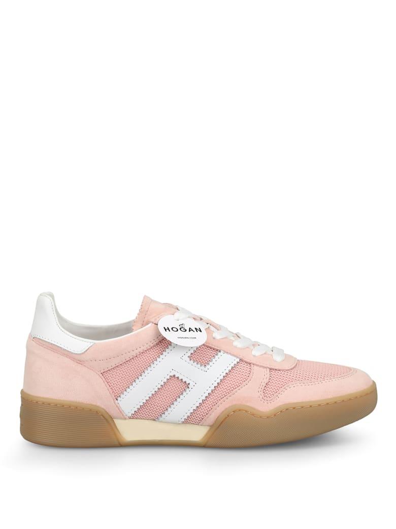 Hogan Sneaker Da Volley Retro In Suede Hxw3570ac40krf0qew - Pink
