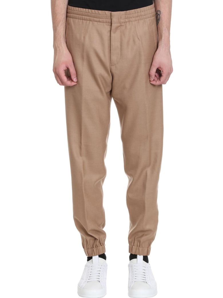 Ermenegildo Zegna Pants In Beige Cotton - beige