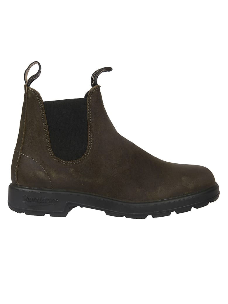 Blundstone Lined Elastic Side Boots - Moss