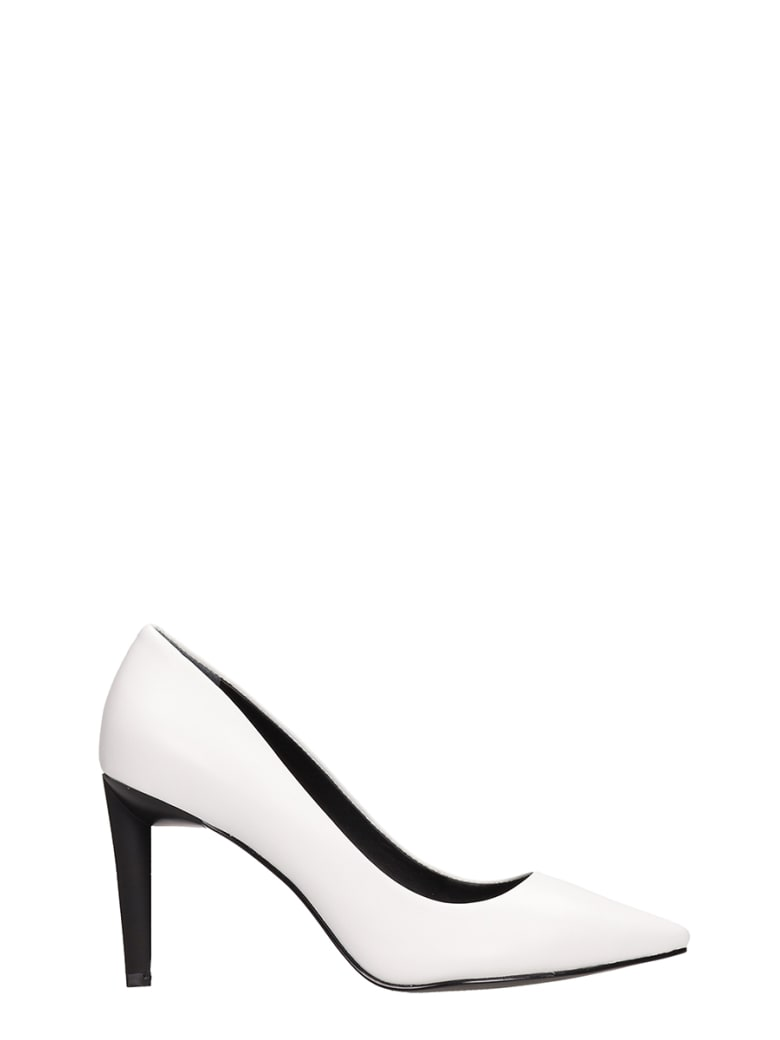 Kendall + Kylie Myra White Calf Leather Pumps - white