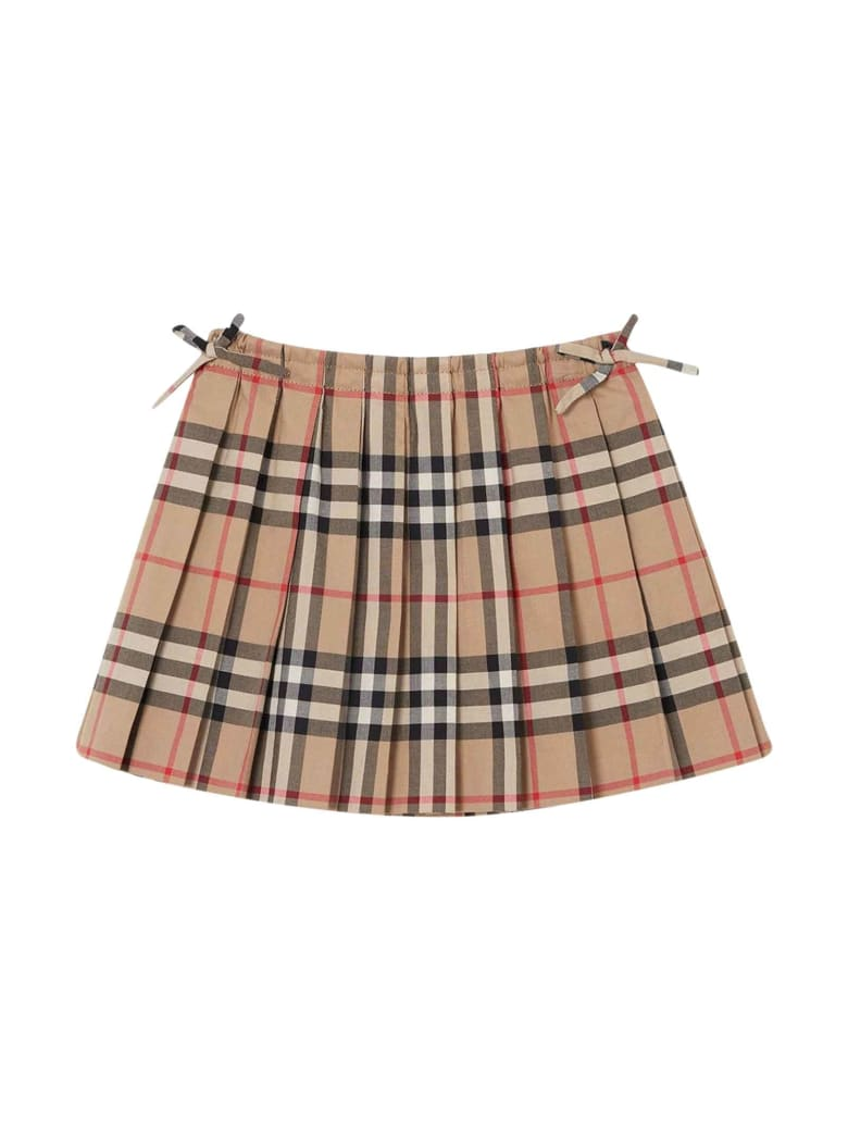 Burberry Vintage Check Skirt - Beige