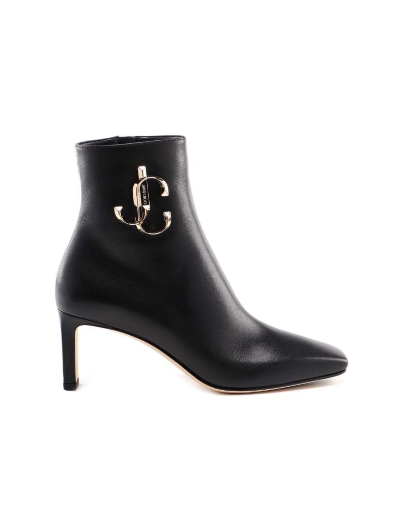 Jimmy Choo Calf Leather Bootie - Black