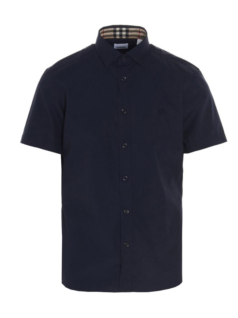Burberry 'sherwood Ss' Shirt - Blue