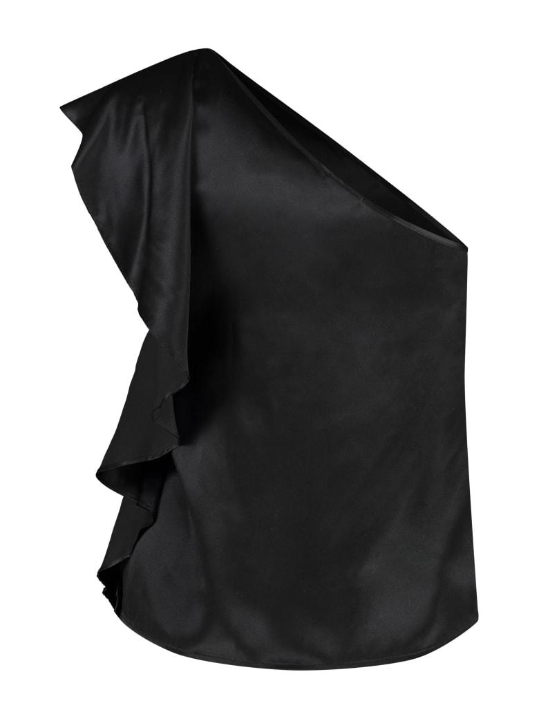 L'Autre Chose One-shoulder Top - black