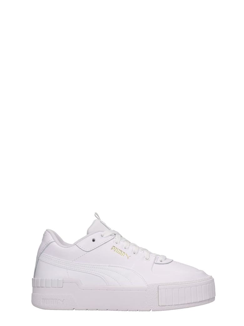 Puma Cali Sport  Sneakers In White Leather - white
