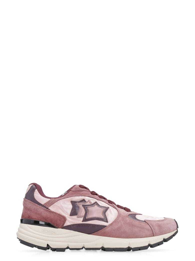 Atlantic Stars Mira Techno-fabric And Leather Sneakers - Pink