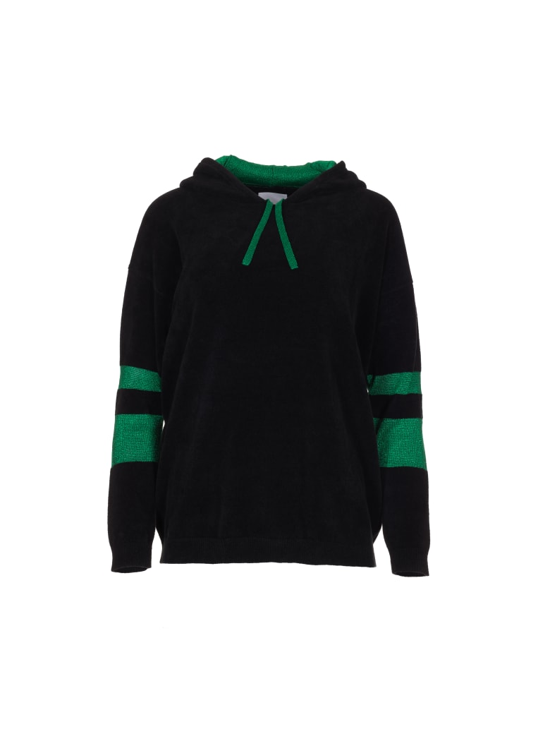 Antonella Rizza VELVET Sweatshirt - Black / Green