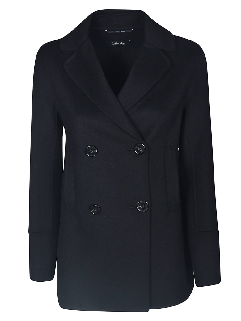 Max Mara The Cube Double-breasted Four Buttoned Blazer - Black