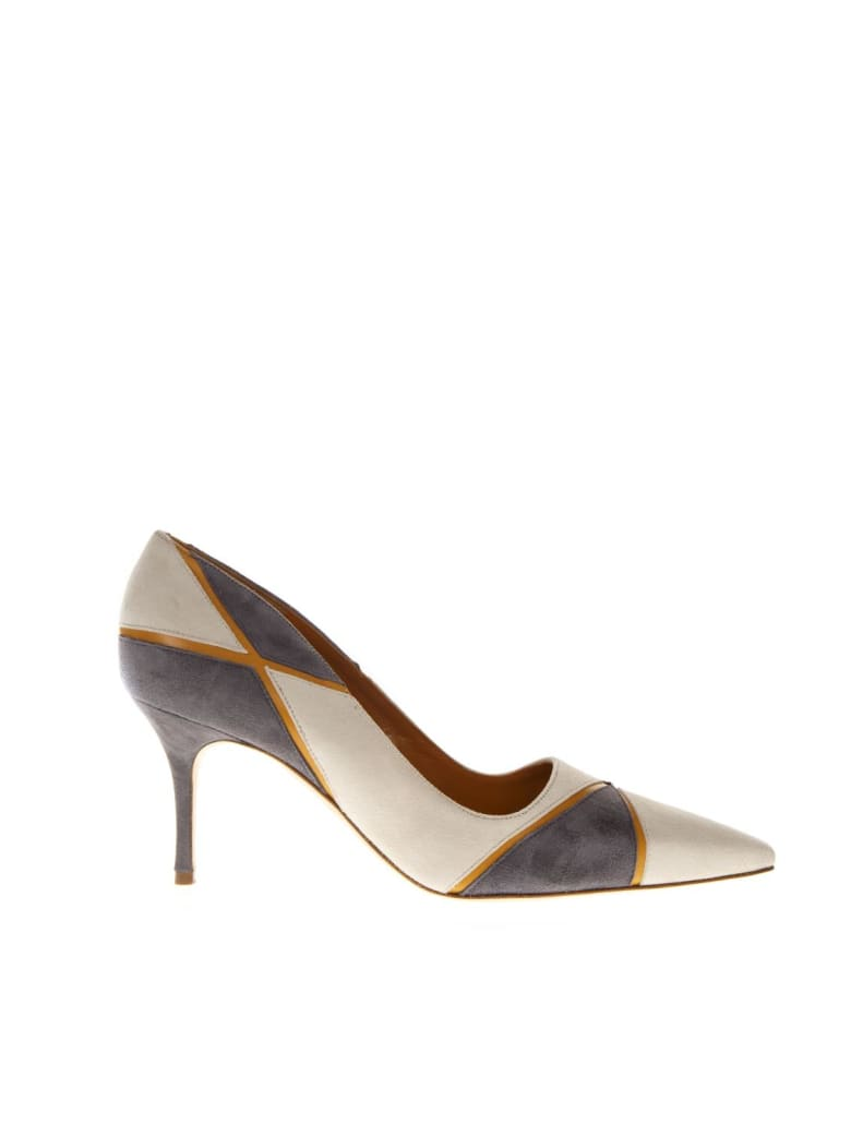 Manolo Blahnik Nella Cream Color Leather Décolleté - Cream