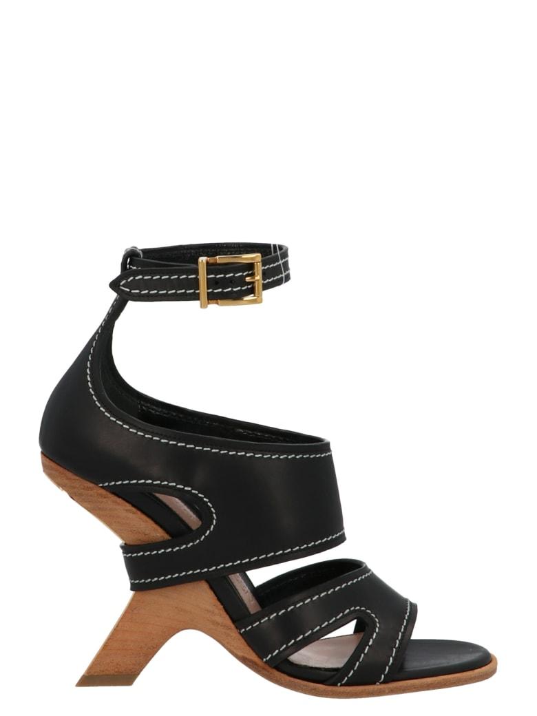 Alexander McQueen 'n13 Wedge' Shoes - Black
