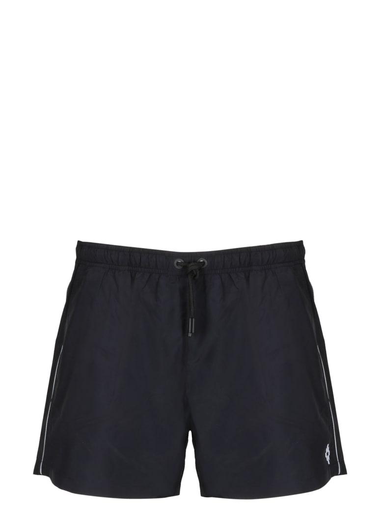Marcelo Burlon Piping Swimshorts - Black