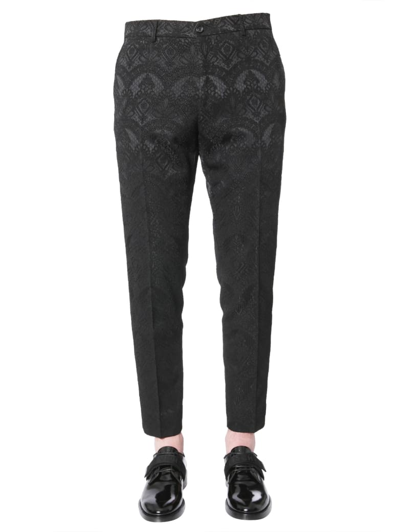 Dolce & Gabbana Jacquard Pants - NERO